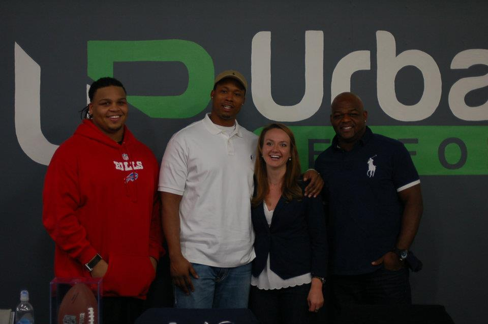 Laura with the NFL Players